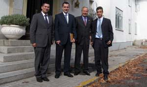 Tomás Arribas, Sebastián Sánchez, Daniel Meziat y Mariano Gómez.